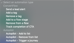 ConvertFlow and Autopilot automations